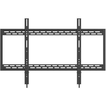 QualGear Heavy-Duty Fixed TV Wall Mount For Most 60″-100″ Flat Panel and Curved TVs, Black