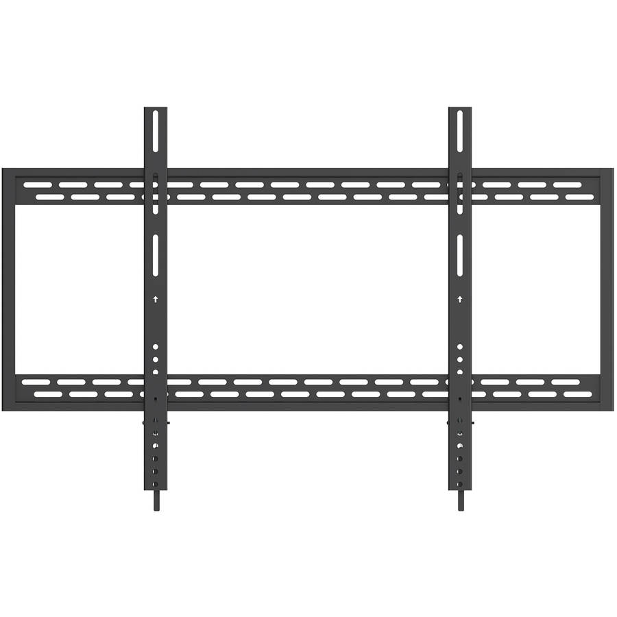 "QualGear Heavy-Duty Fixed TV Wall Mount For Most 60""-100"" Flat Panel and Curved TVs, Black"