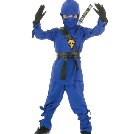 Blue Ninja Dragon Fighter Boys Fancy Dress Halloween Party Costume](Tesco Fancy Dress Halloween)