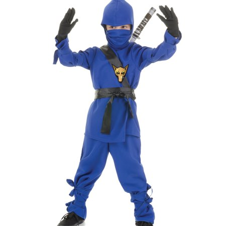Blue Ninja Dragon Fighter Boys Fancy Dress Halloween Party Costume