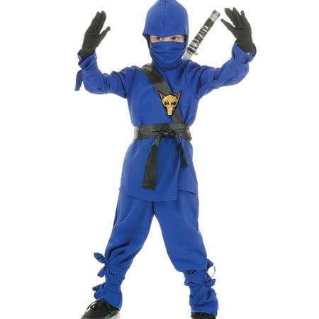 Blue Ninja Dragon Fighter Boys Fancy Dress Halloween Party Costume (Boys Fancy Dress Costume)