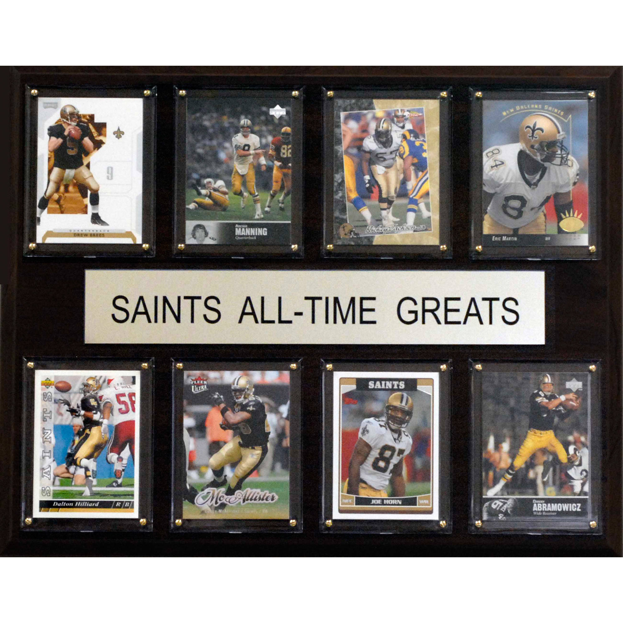 C&I Collectables NFL 12x15 New Orleans Saints All-Time Greats