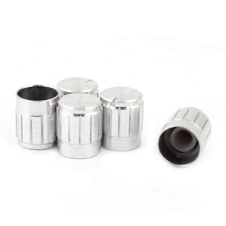 5pcs Aluminum Alloy Potentiometer Volume Control Knob 14mm x 17mm ()