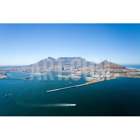 Aerial View of Cape Town and Table Mountain, South Africa Print Wall Art By (Aerial View Of Cape Town South Africa)