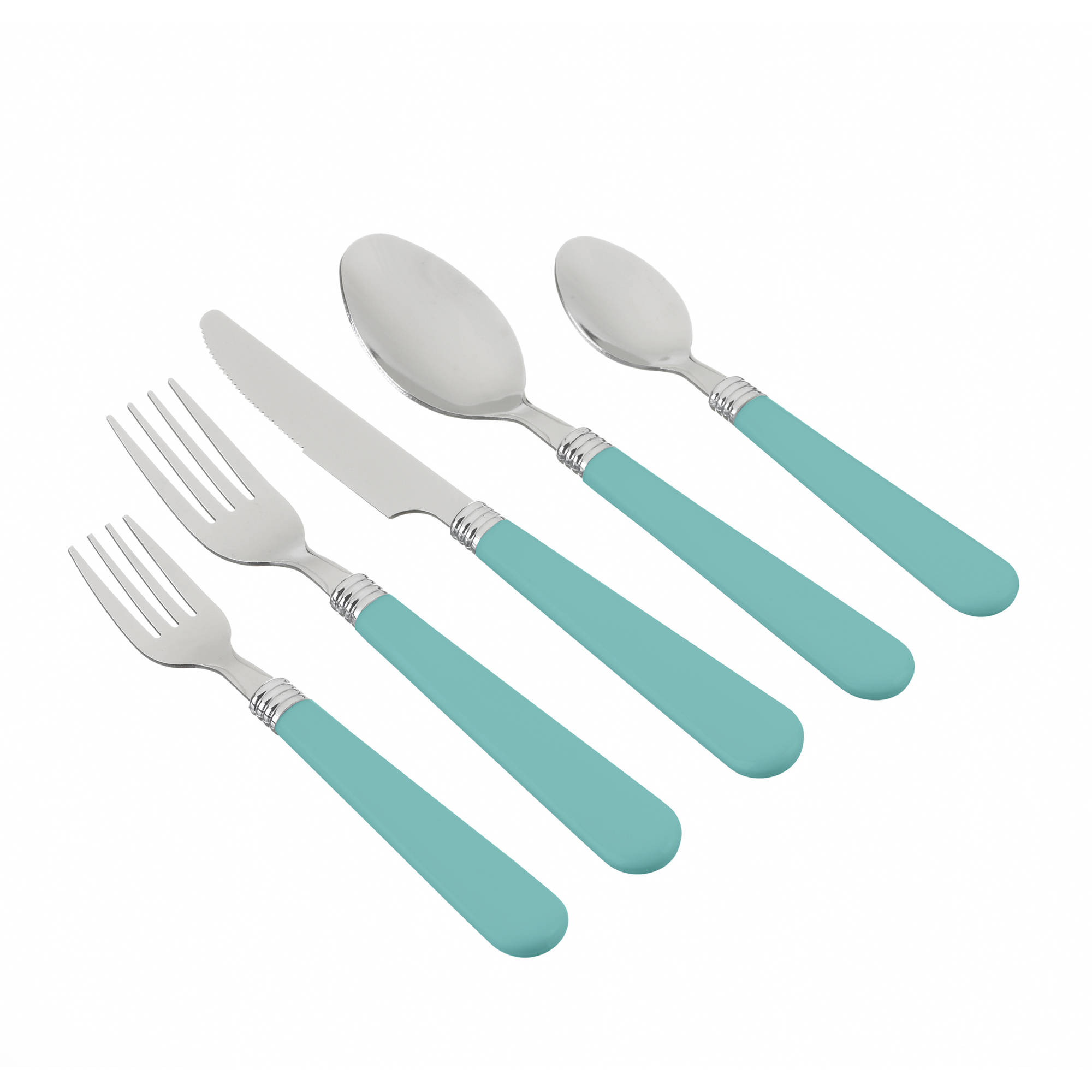 Mainstays Aqua 48-Piece Flatware Set