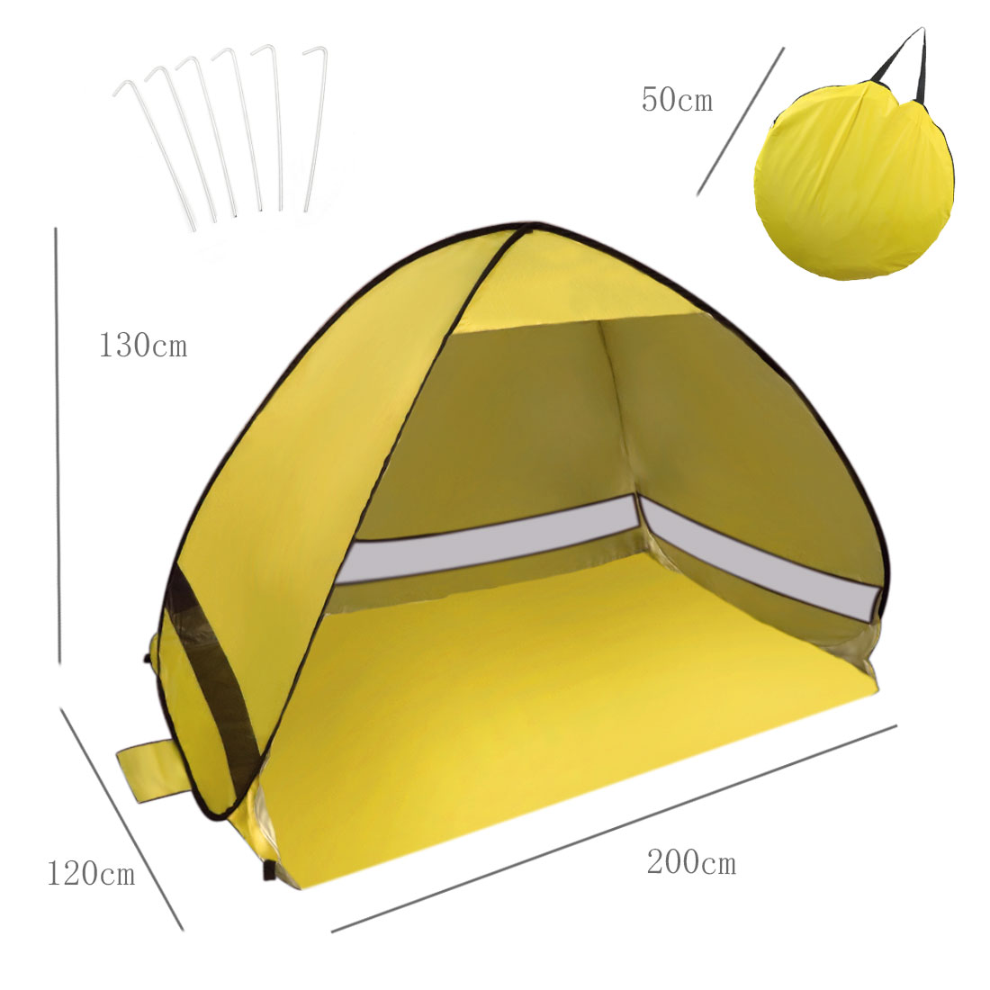 Portable Pop Up Beach Tent Sun Shade UV 50+ Protection Canopy Outdoor Automatic Instant Tent Sun Shelters by Unique-Bargains