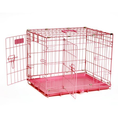 "Precision Pet SnooZZy Baby Wire Crates - Baby Pink 2000 - 24"" L x 18"" W x 19"" H"