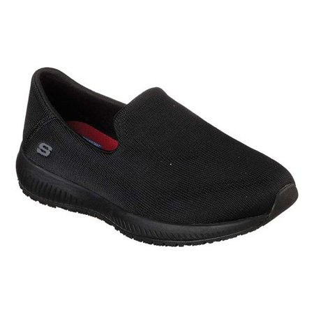 0ca6fadcb3be Skechers Work - Women s Skechers Work Relaxed Fit Squad Slip Resistant  Miskin Black 7.5 M - Walmart.com