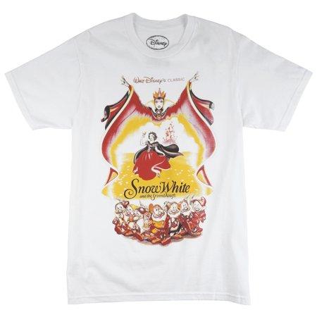 9a3ffbab2 Disney - Disney Snow White Classic Mens Regular Fit T-Shirt White S-2XL  Dwarfs Disneyland - Walmart.com