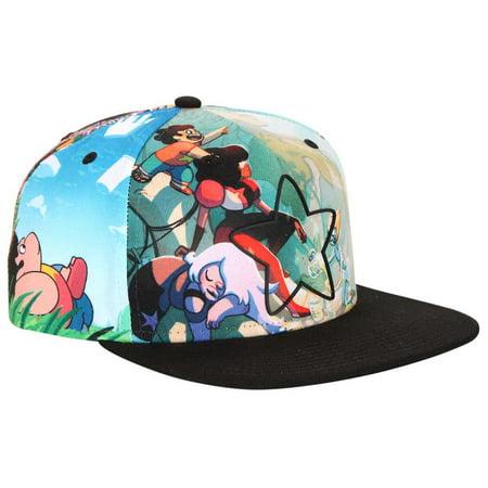 Steven Universe Star Allover Sublimation Snapback Hat - Walmart.com 16e4ba0f60e