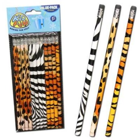 Animal Print Pencils - 12 ct - Animal Print Pencils