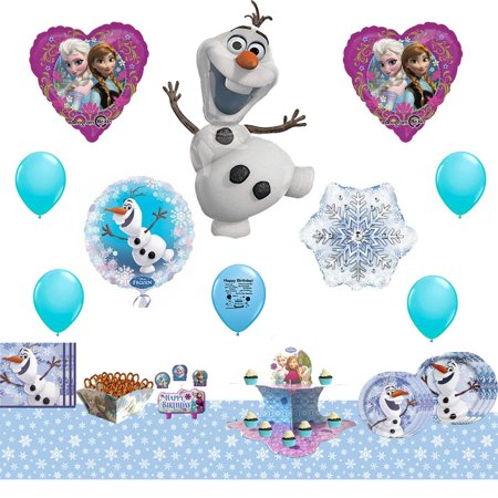 Disney Frozen Olaf Ultimate Birthday Party Supplies and Balloon Decoration Kit - Frozen Birthday Party Decorations