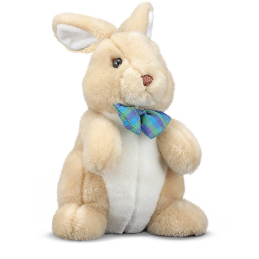 "Melissa & Doug Propper Bunny Rabbit Stuffed Animal, 12"" tall"