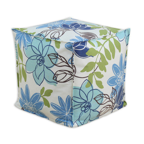 Brite Ideas Living Monaco Breeze Square Seamed Beads Ottoman