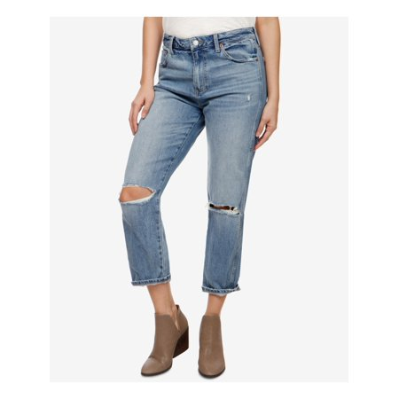 LUCKY BRAND Womens Blue Distressed Jeans Size: 12