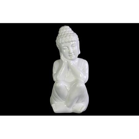 Urban Trends Ceramic Sitting Buddha (Sitting Buddha Figurine)