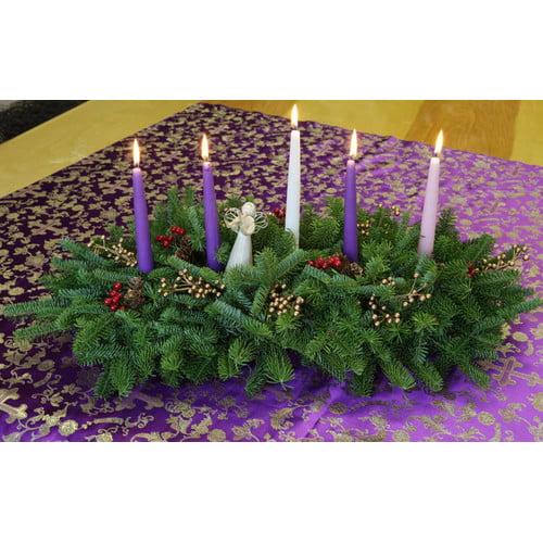 Worcester Wreath Inc. Faith Christmas Grace Advent 5 Candle Centerpiece
