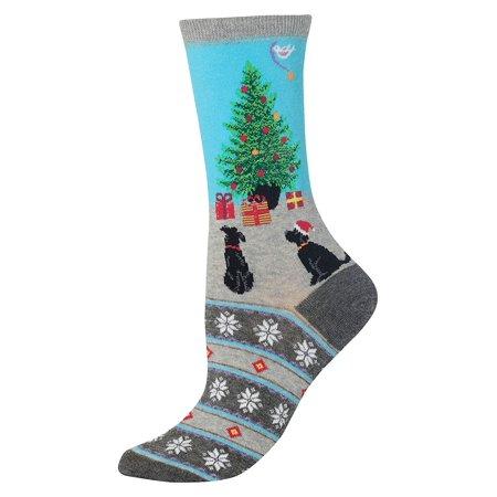 Dog Christmas Tree Fair Isle Crew Socks ()