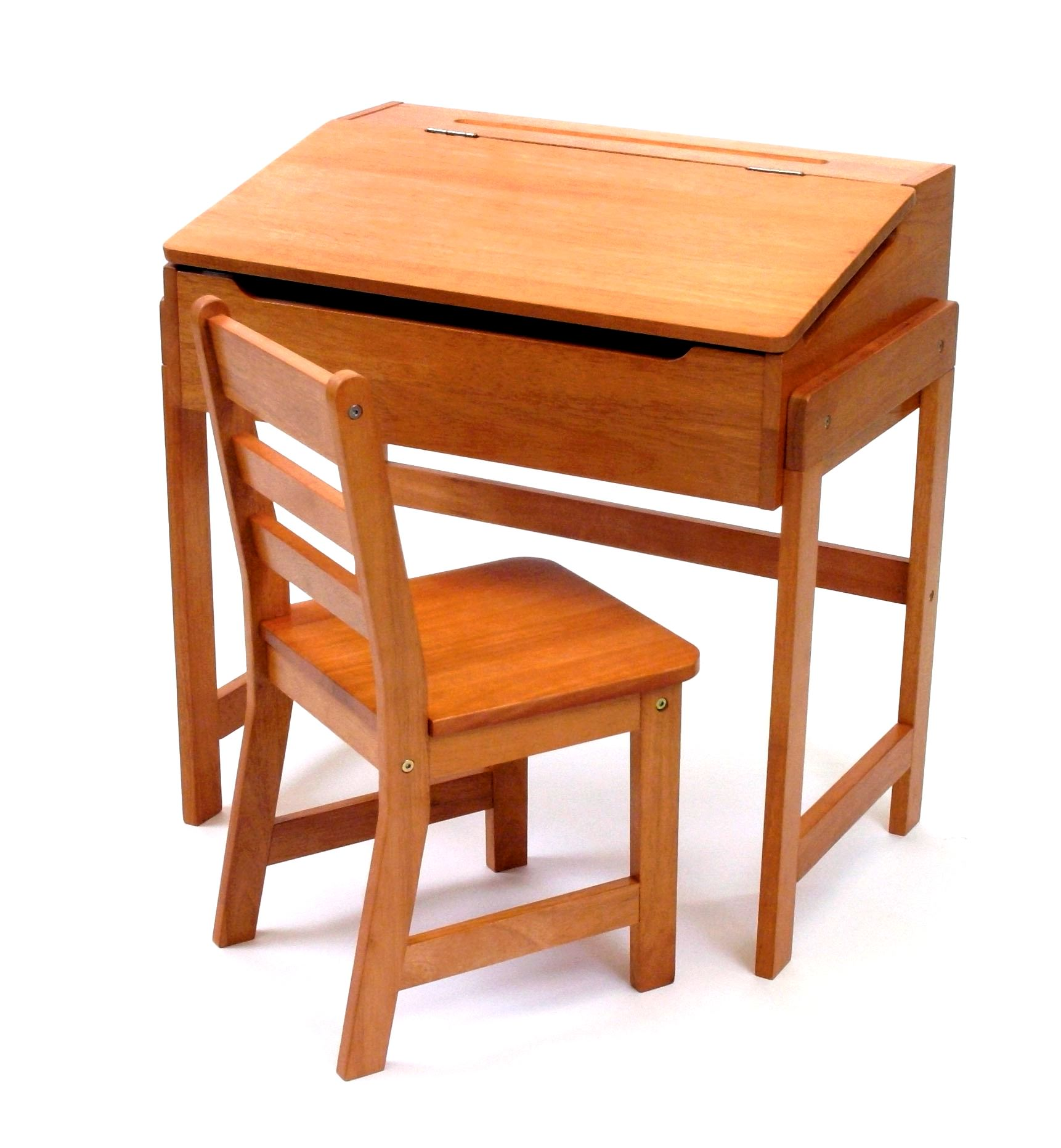 Lipper Kids Desk with Chair, Slanted Top, Multiple Finishes