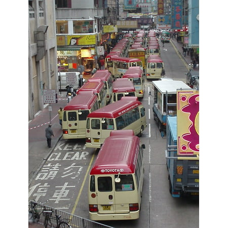 LAMINATED POSTER Hong Kong Asia Traffic Bus Urban Transport Poster Print 24 x 36 ()