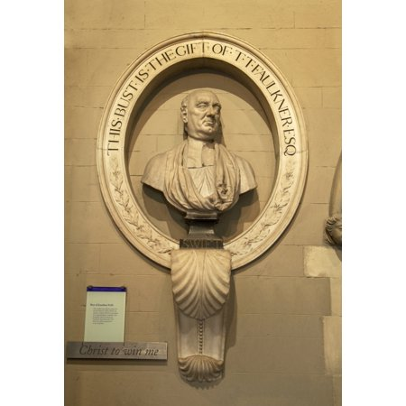 Bust of Jonathathan Swift Dean of the cathedral from 1713 to 1745 St Patricks Cathedral Dublin City Ireland Canvas Art - Panoramic Images (24 x 18)