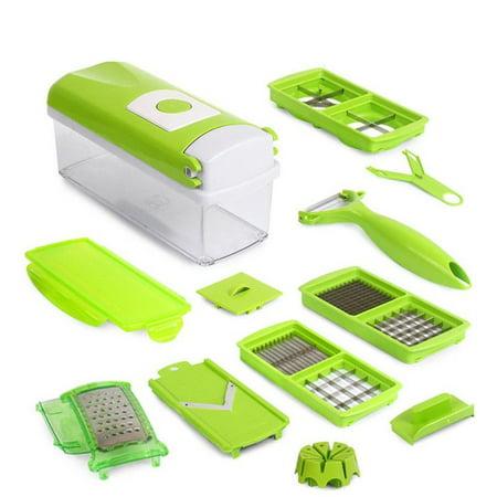 Salad Cutter (10Pcs Slicer Vegetable Fruit Peeler Cutter Chopper Grater Salad)