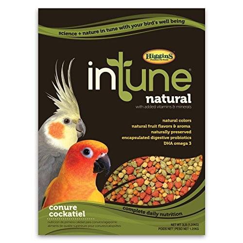 Higgins Intune Natural Conure & Cockatiel Bird Food, 2 Lb by HIGGINS GROUP