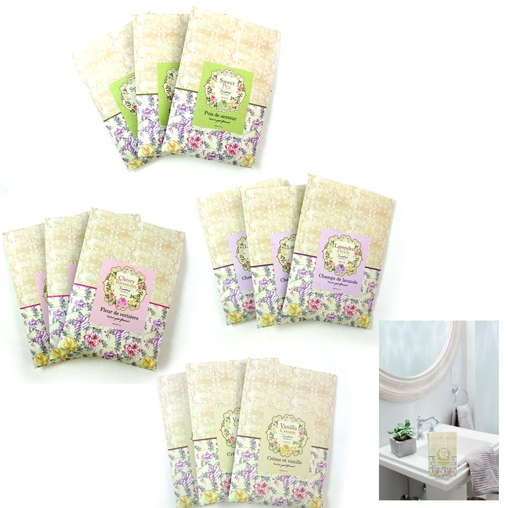 24Pcs Scented Fragrance Home Wardrobe Drawer Perfume Sachet Bag Mini Pouch Favor