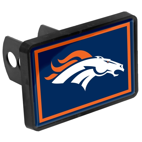 """Denver Broncos Logo 1.25"""" x 2"""" Universal Plastic Hitch Cover - No Size"""