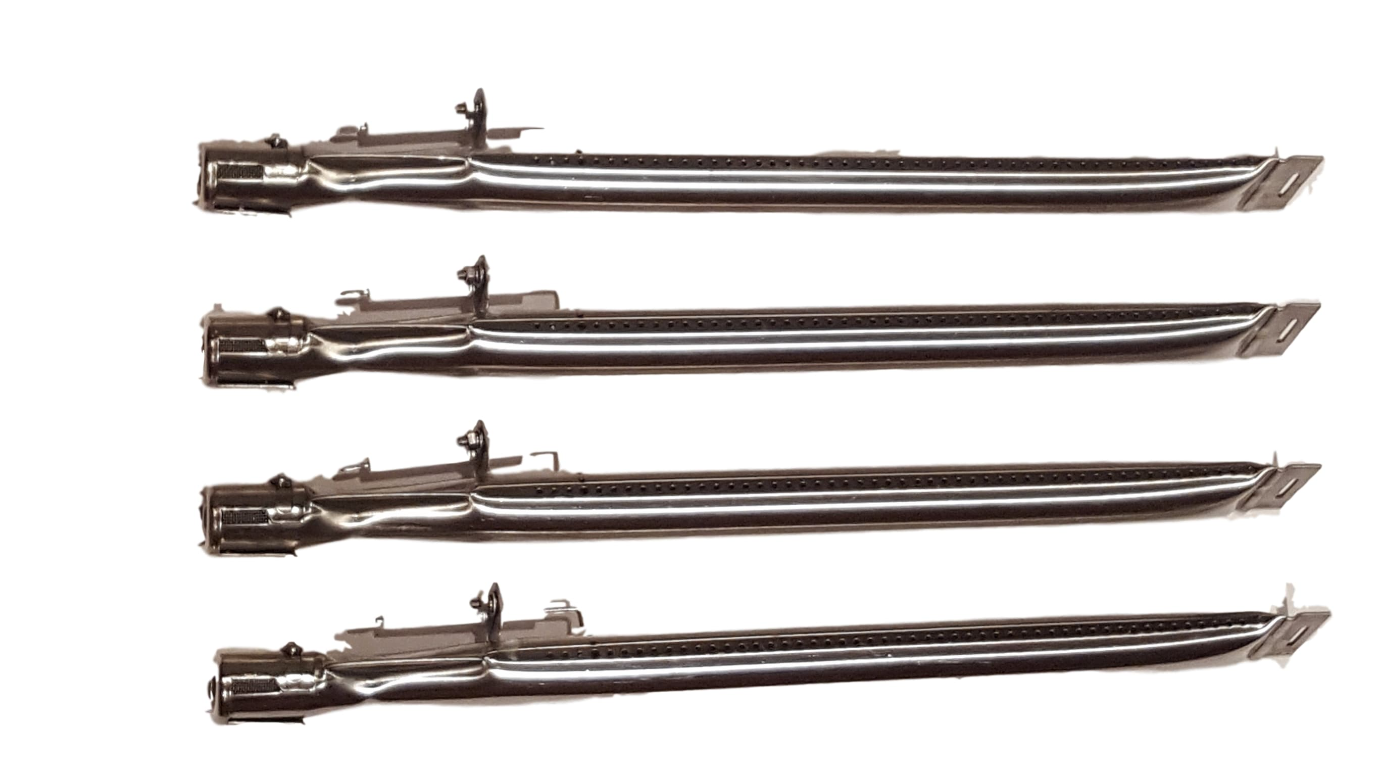 Set of 4 replacement stainless steel burners with ...