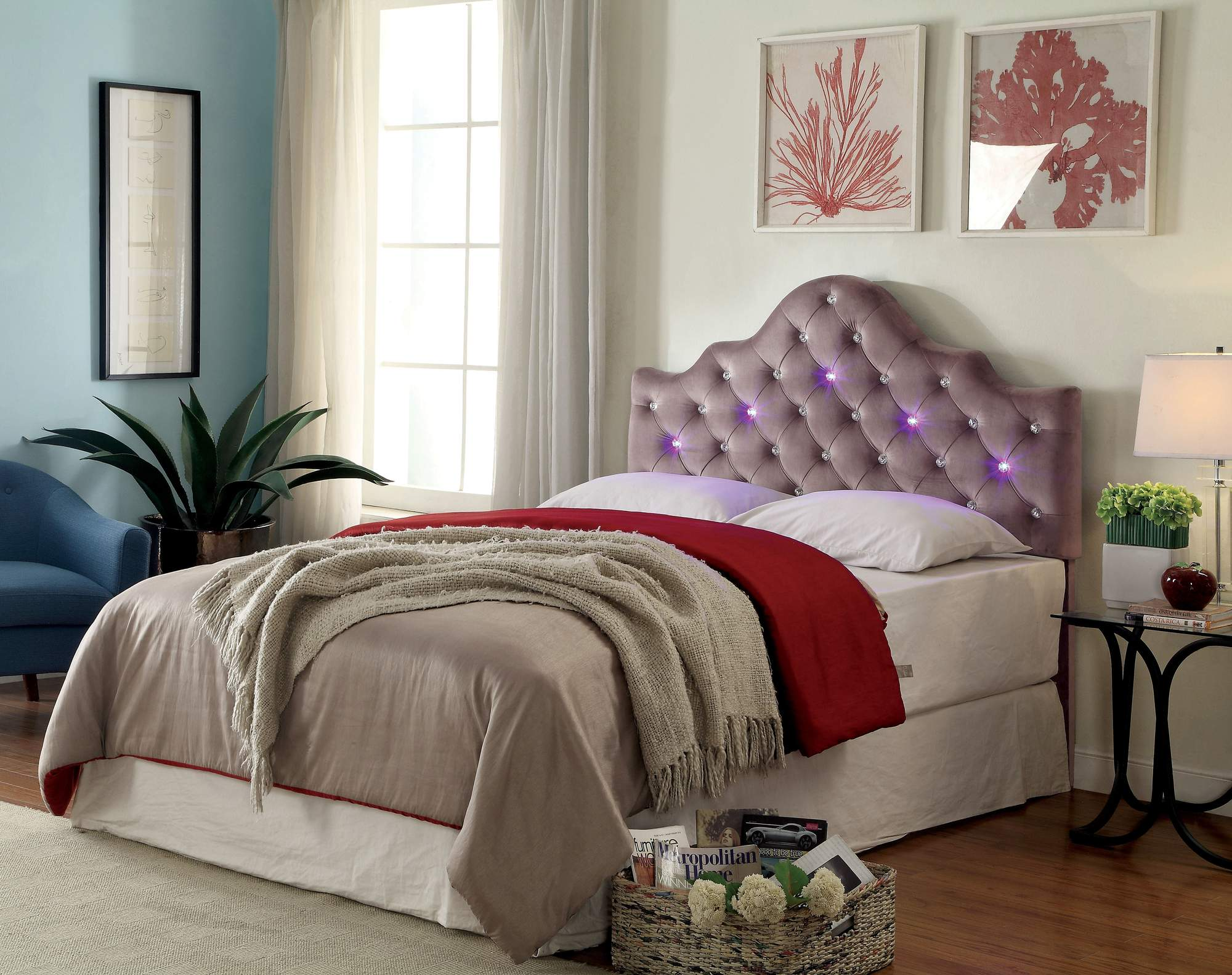 Furniture Of America Lulu Contemporary King Headboard With LED, Multiple  Colors   Walmart.com