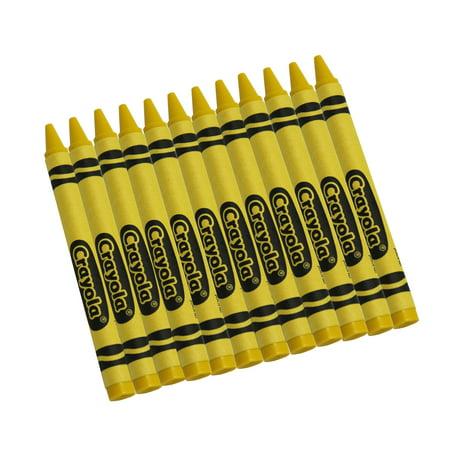 Yellow Crayon (Crayola Bulk Crayons, Yellow, Regular Size, 12 Per Box, Set Of 12)