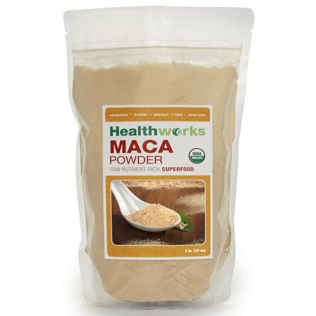 Healthworks Organic Raw Maca Powder 2 Lb  32 Oz