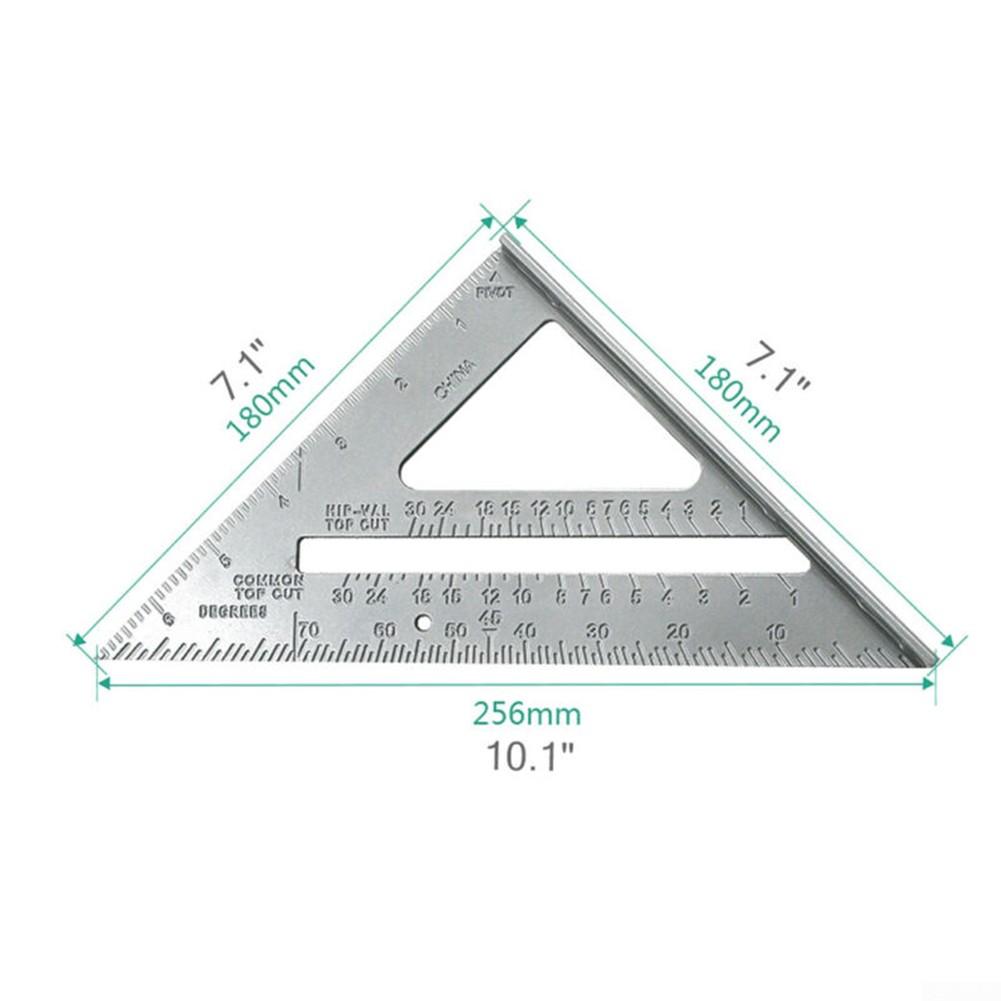 Sharplace 7 Triangle en aluminium r/ègle vitesse carr/ée outils de mesure de charpentier /Équerres