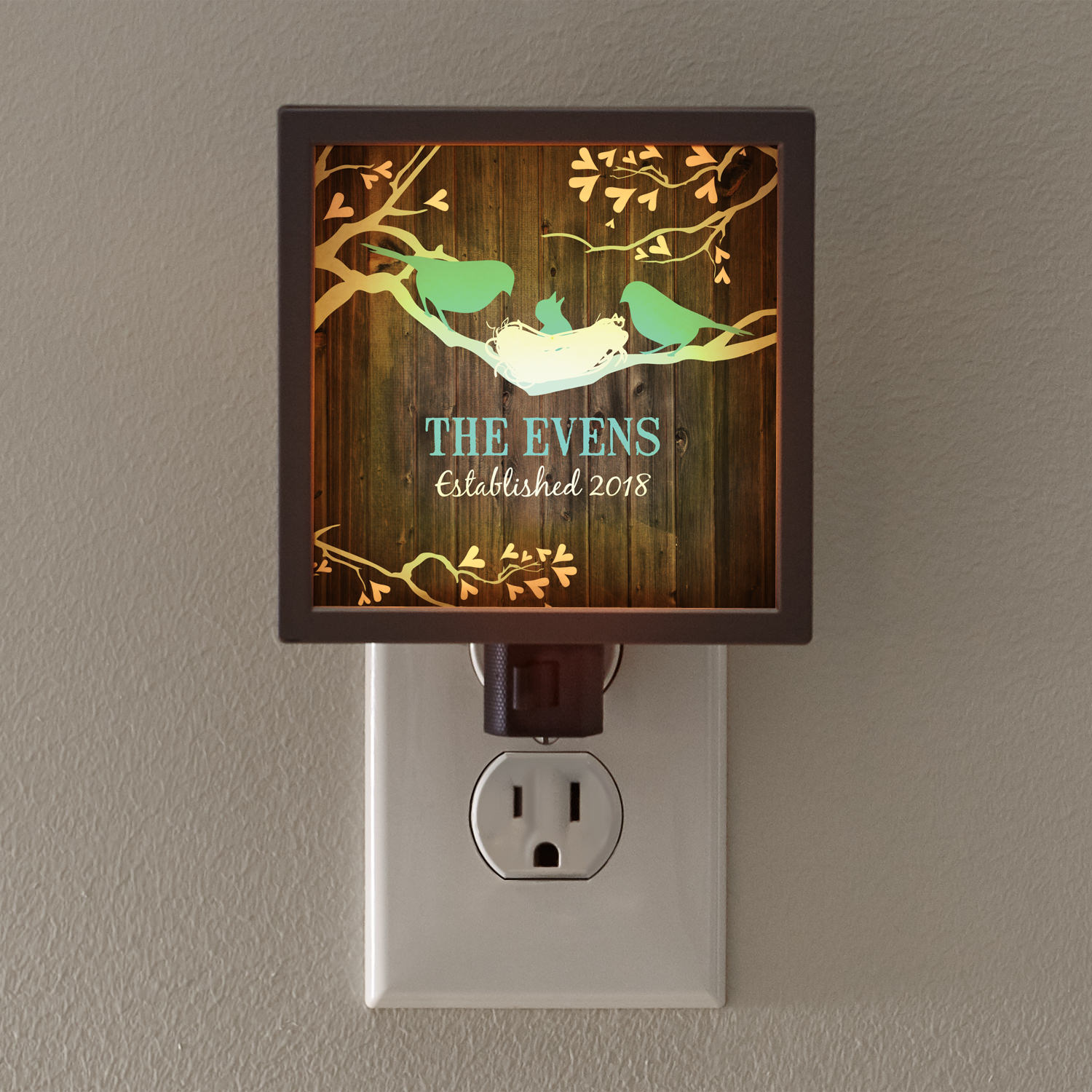Personalized Our Little Bird Family Nightlight by Personal Creations
