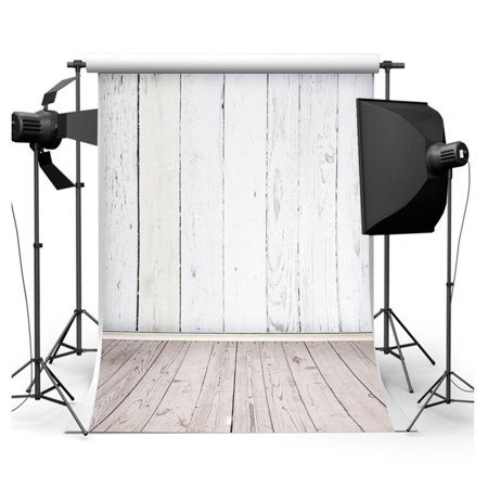 HelloDecor Polyster White Wooden Theme Studio Photo Photography Background Studio Backdrop Props best for Baby, Children, Kids, Newborn Photo