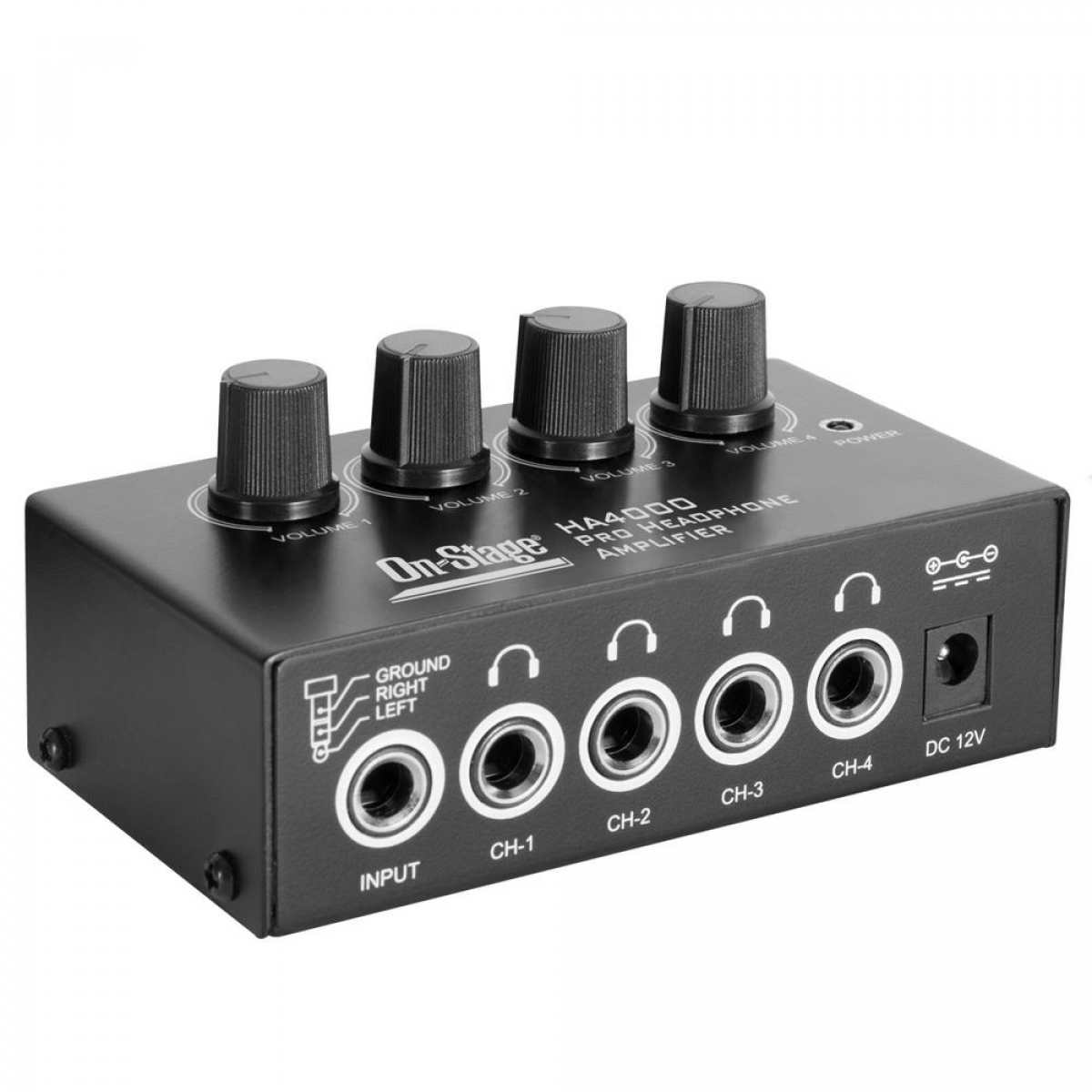 On-Stage HA4000 Pro Headphone Amplifier by The Music People Inc.