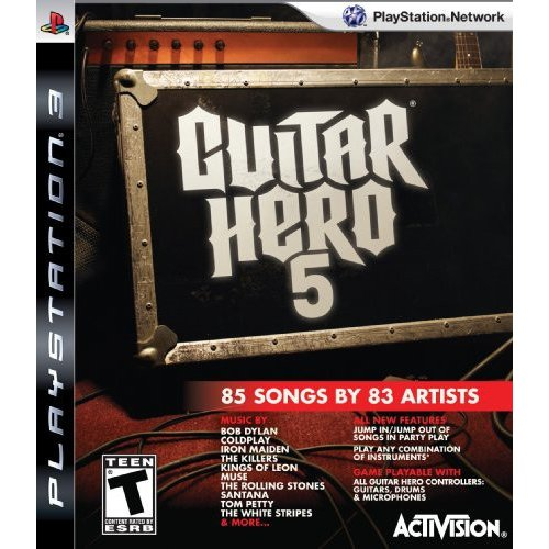 Guitar Hero 5 Stand Alone Software - Playstation 3 (Game ...