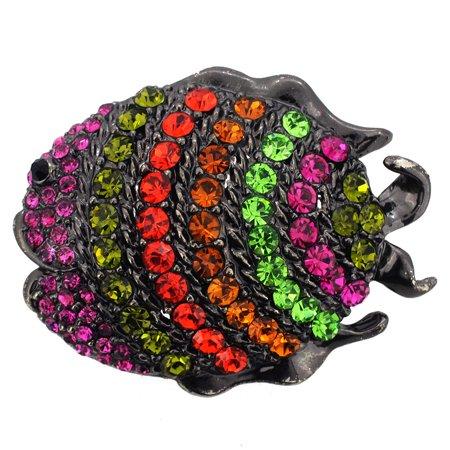 Multicolor Angle Fish Pin Brooch