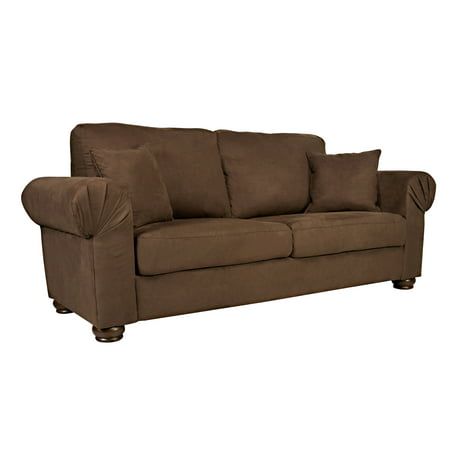 Better Living Olga Brown Microfiber Sofa