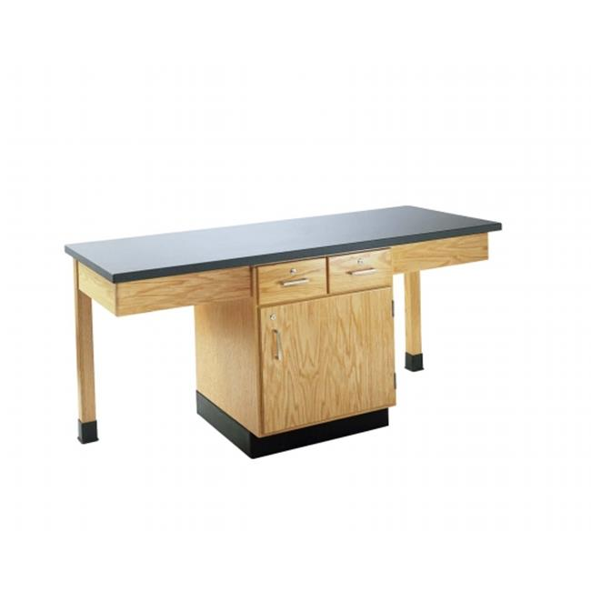 Diversified Woodcrafts 2201K 2-Station Table with 1.25 in...