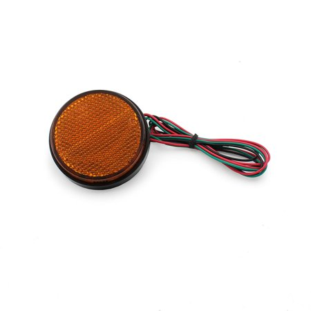 Ediors Motorcycle Car SUV Truck 24 LED Round Reflector Lamp Tail Brake Turn Signal Stop Marker Light Amber