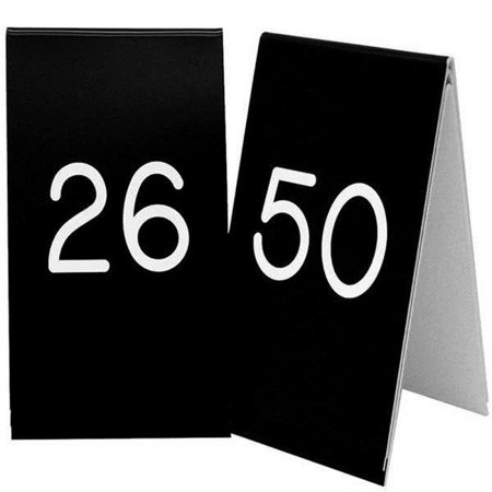 Cal Mil 271B-2 3.50 x 5 in. Black with White 26-50 Number Tent Set