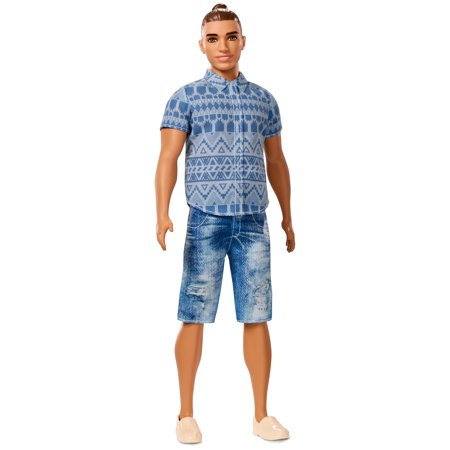 Barbie Ken Fashionistas Broad Doll 13 Distressed Denim