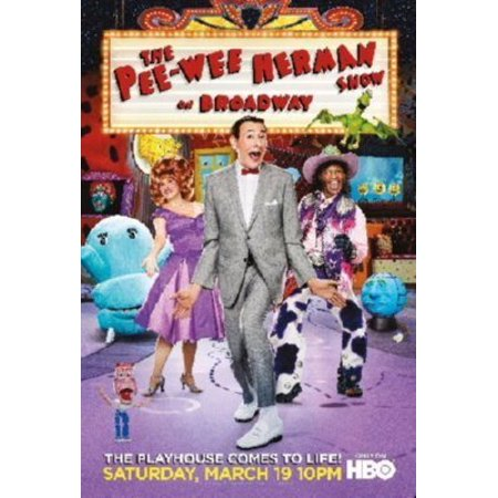 Peewee Herman Broadway poster Metal Sign 8inx 12in - Broadway Sign