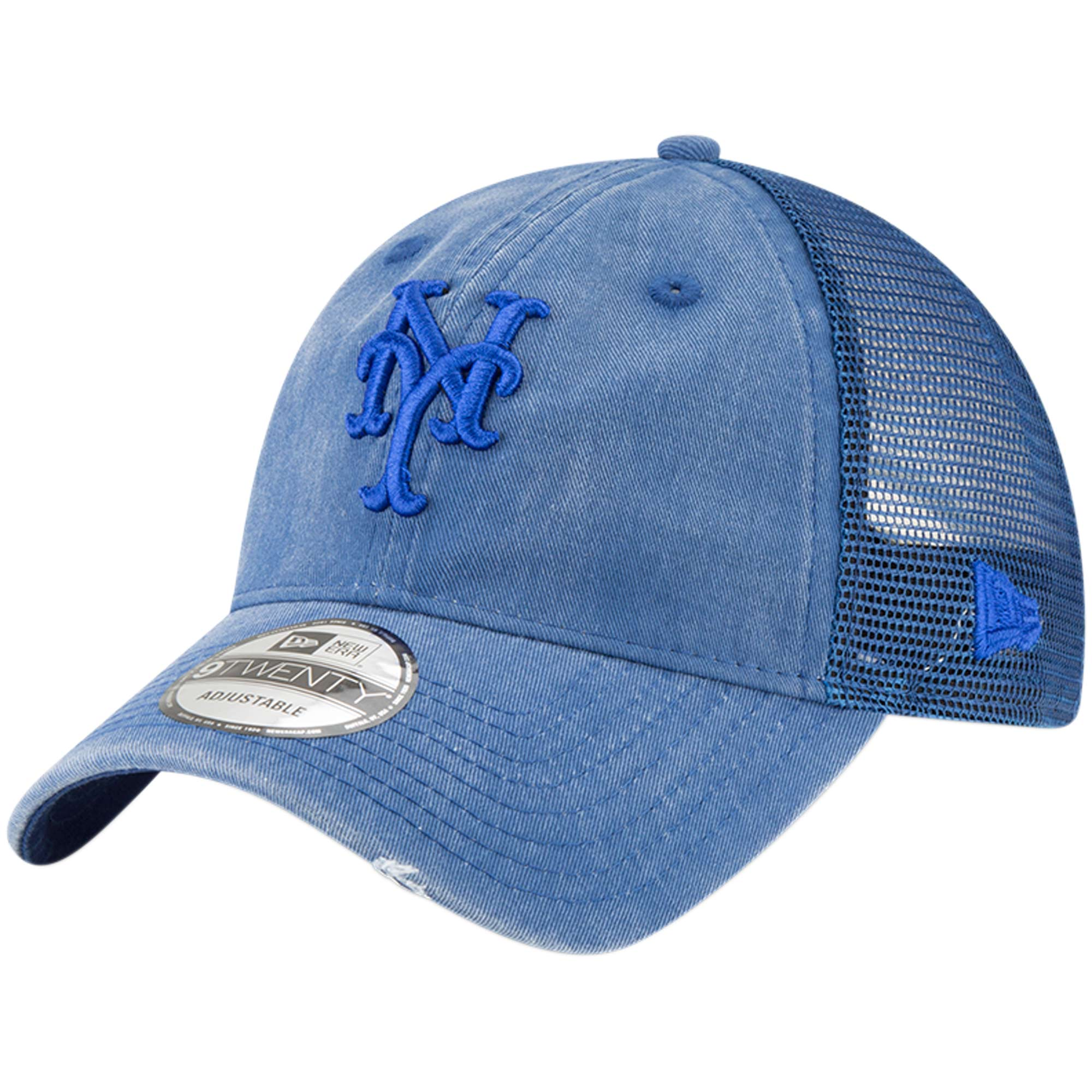New York Mets New Era Tonal Washed 9TWENTY Adjustable Hat - Royal - OSFA