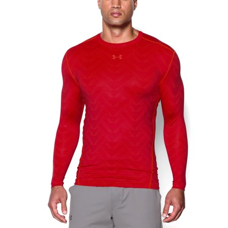 Under armour men 39 s coldgear printed long sleeve shirt x for Under armour shirts at walmart