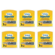 Schick Injector Refill Chromium Blades, Prevents Razor Bumps - 7 Ct (Pack of 6)