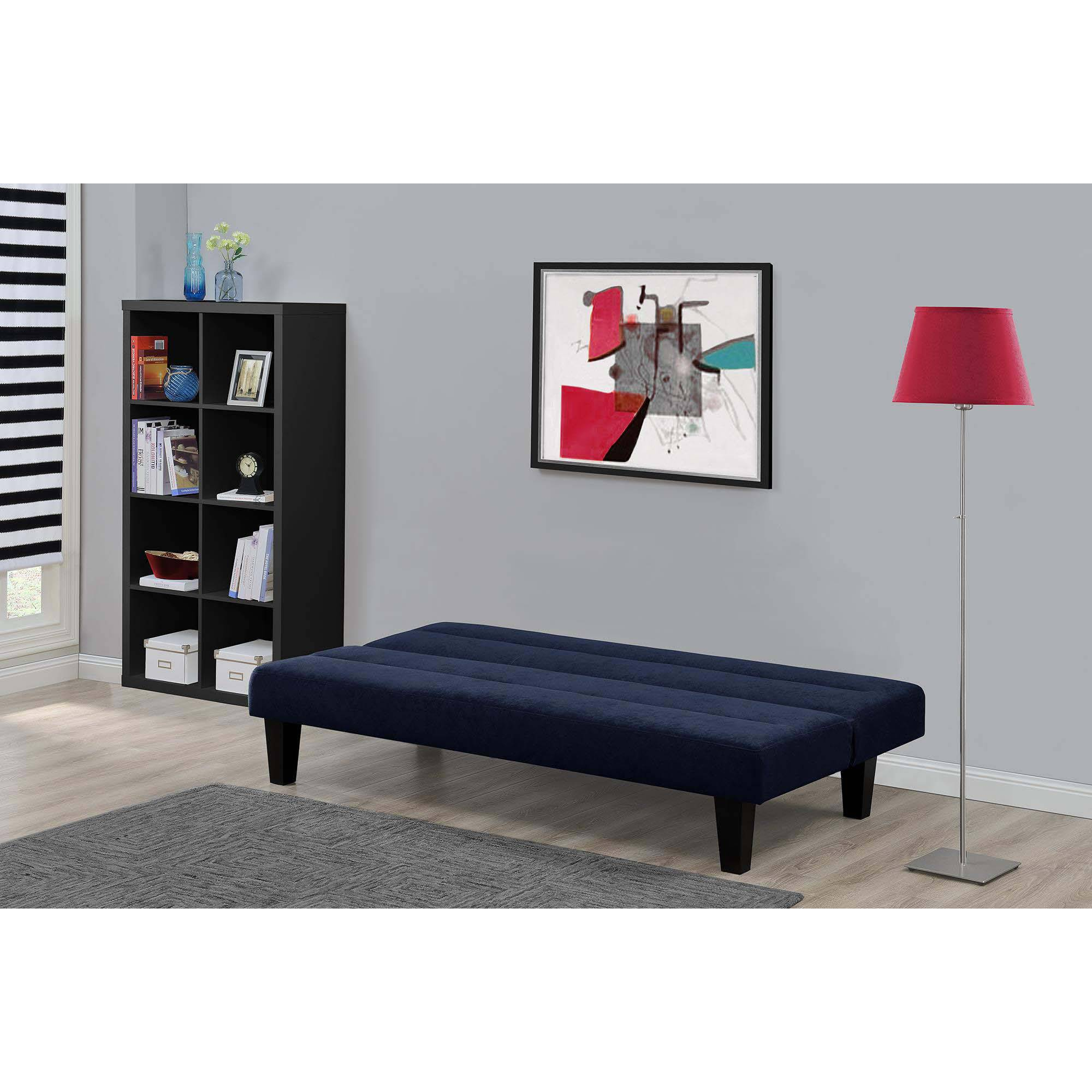 kebo twin size futon sofa bed brown black blue gray couch sleeper  - kebotwinsizefutonsofabedbrownblack