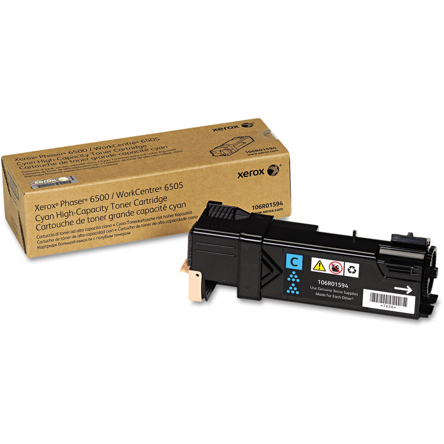 Xerox 106R01594 High-Capacity Cyan Toner Cartridge